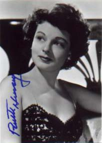 An autographed photograph of the recently deceased actress Ruth Hussey.