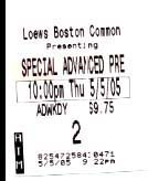 Special Preview Screening ticket stub