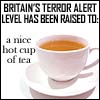 British Terror Alert: A Nice Hot Cuppa Tea