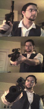 Photostrip of Ben and a Blaster