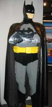 Full-sized Lego model of Batman, ganked from THE BEAT