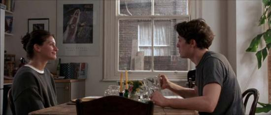 Julia Roberts, Chagall, and Hugh Grant in Notting Hill