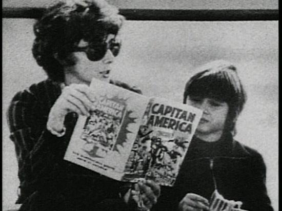 Audrey Hepburn reading Captain America