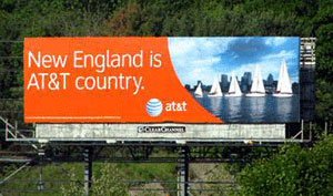 Billboard: 'New England is AT&T Country
