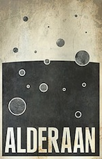 FLICKR: Alderaan travel poster by Justin Van Genderen