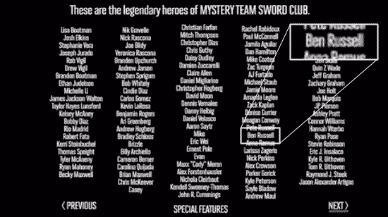 Mystery Team: Special Features: Sword Club: Credits