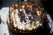 Elden Dustin's 100th Birthday cake. Photo by J.Tully