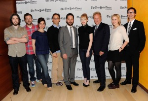"The director & cast of the Times Center live read of ""The Apartment"". Photo by J.Kempin"