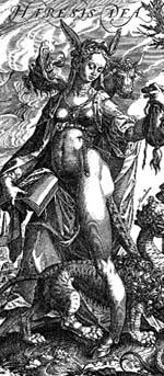 Athropomorphic depiction of Heresy