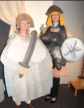 From Spiva Arts: Jehanne and Brunhilde