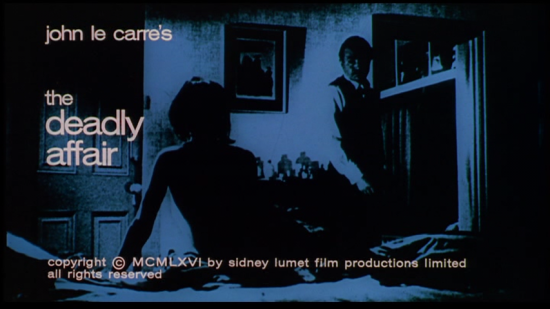 'The Deadly Affair' title card