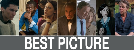 Oscars 2018: Dunkirk, Get Out, Lady Bird, Phantom Thread, The Post, The Shape of Water, Three Billboards...