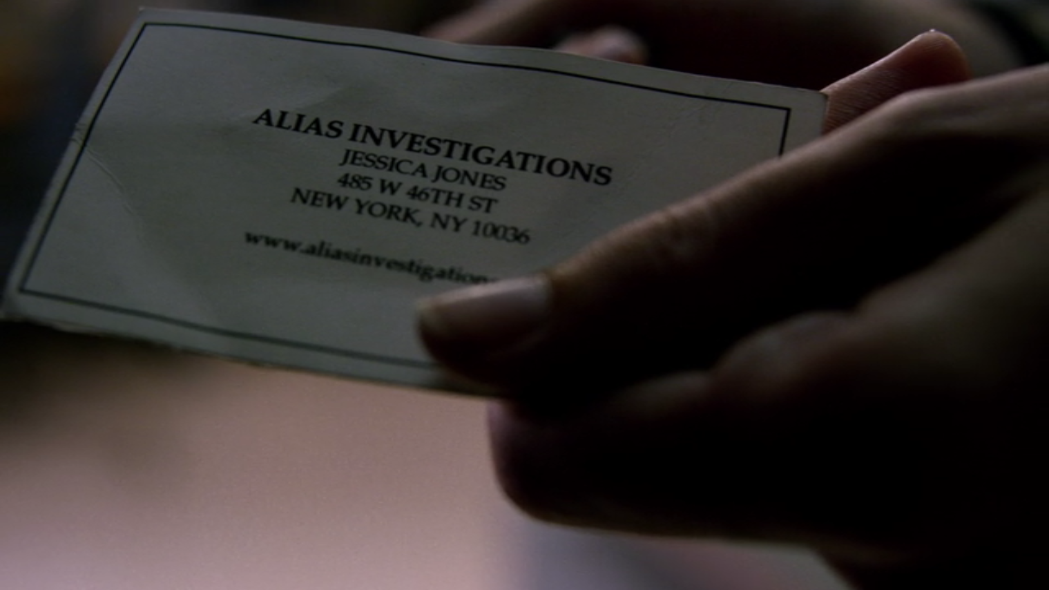 Gallery business cards in television jessica jones alias invesigations reheart Images