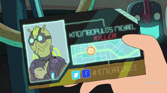 Krombopulos Michael in Rick and Morty #KMICHAELKILLS