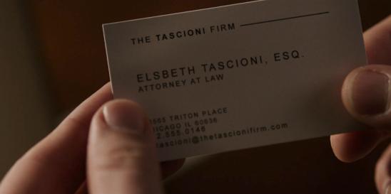 Elsbeth Tascioni, Esq. of the Tascioni Firm in The Good Fight