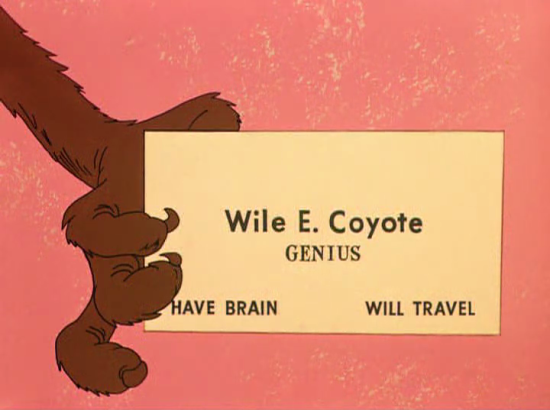 Wile E. Coyote: Genius from 'To Hare is Human' (1956)