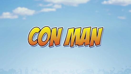 CON MAN -- title card