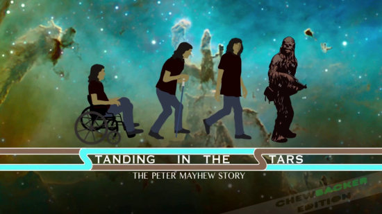 STANDING IN THE STARS: THE PETER MAYHEW STORY -- title card