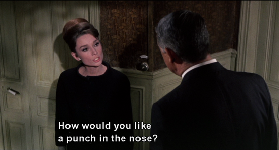 CHARADE: How would you like a punch in the mouth?