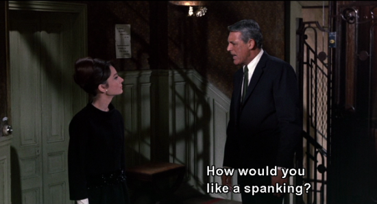 CHARADE: How would you like a spanking?