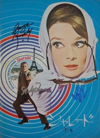 Japanese program for Charade, signed by George Kennedy, Stanley Donen, and Walter Matthau