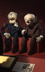 Statler and Waldorf puppets at the Museum of the Moving Image